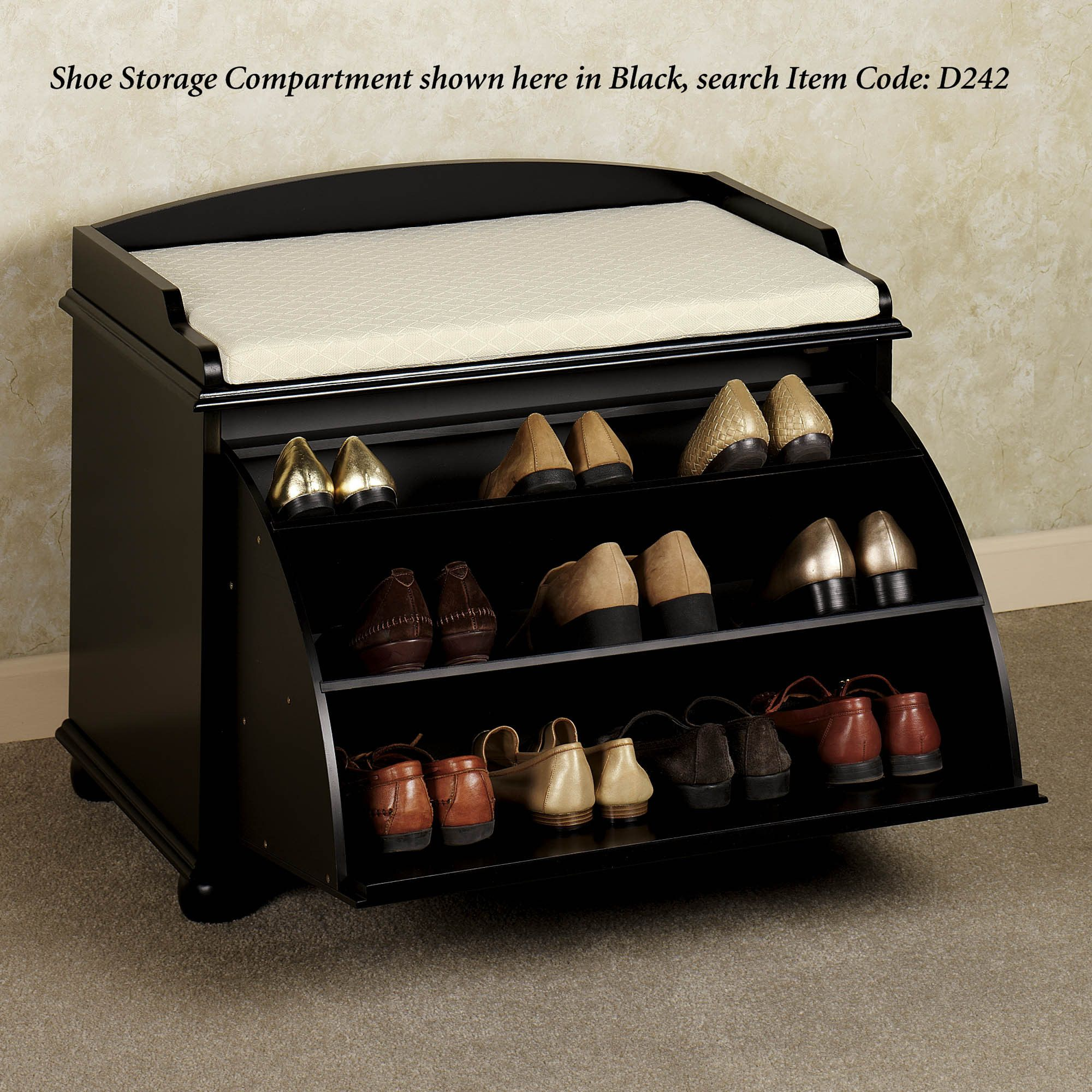 Aubrie Shoe Storage Bench For Glenn S Shoes And Stool Bench