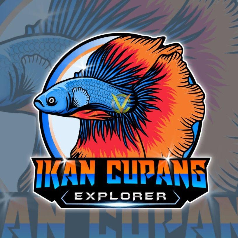 Logo Ikan Cupang Vector In 2021 Fish Logo Cupang Fish Art