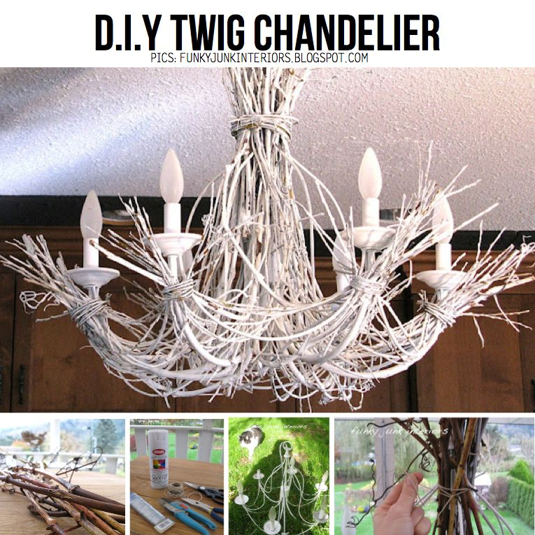 Thrift store display ideas twigs and a thrift store chandelier is thrift store display ideas twigs and a thrift store chandelier is a great diy combo check out an ideas for the house pinterest twig chandelier aloadofball Image collections