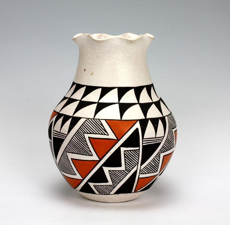 Acoma Pueblo Native American Indian Pottery Vase Elizabeth Waconda American Indian Pottery Indian Pottery Native American Pottery,4 Principles Of Experimental Design Ap Stats