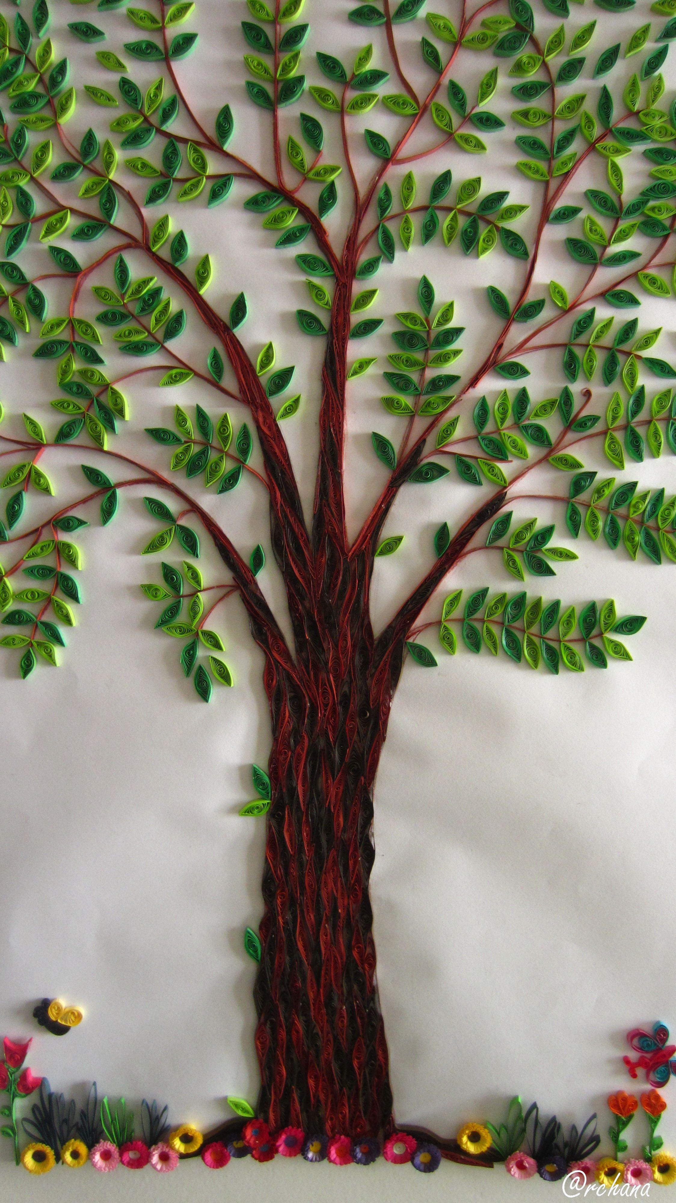 My quilled tree | paper art الفنون الورقية | Pinterest | Quilling ...