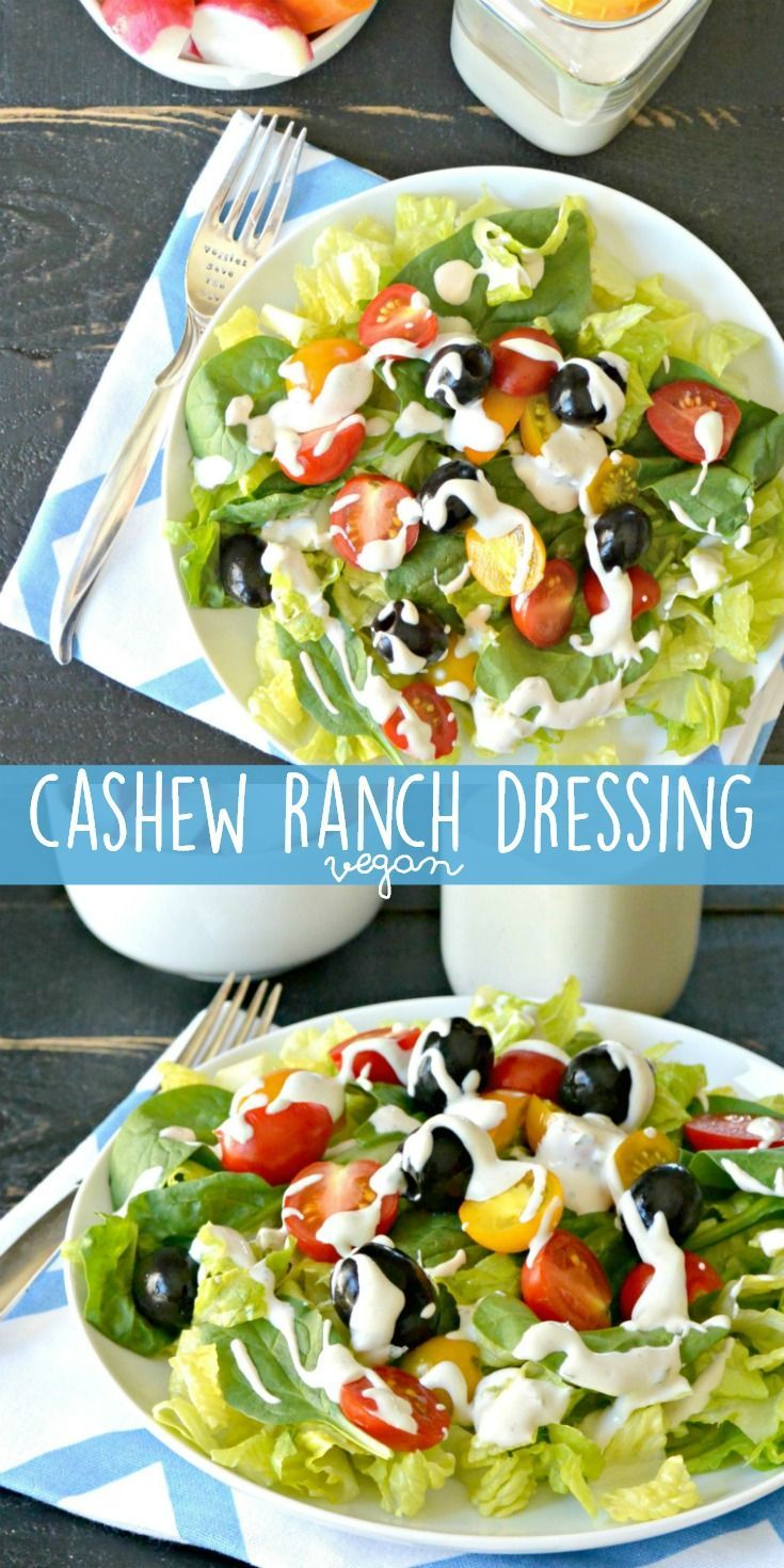 Cashew ranch dressing vegan recipe oil free vegan