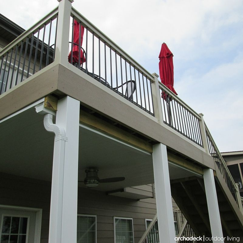 If you have a second story deck an under deck ceiling is for Second story deck cost