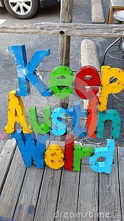 Keep Austin Weird Metal Sign Metal Signs Metal Decor Block