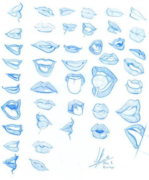 Photo of Drawing Lips Cartoon Anime _ Drawing Lips Cartoon