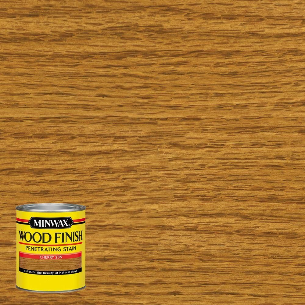 Minwax 8 oz. Wood Finish Cherry (Red) Oil-Based Interior Stain (4-Pack)