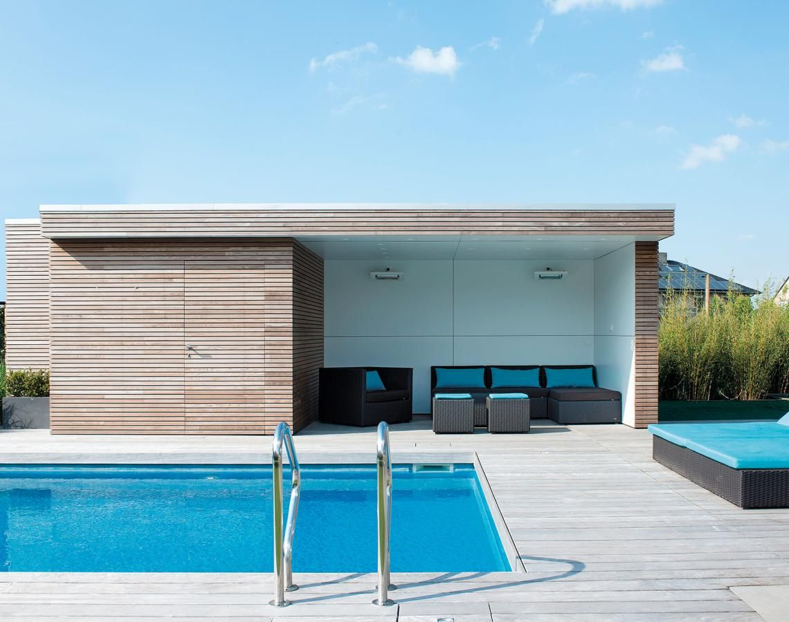 our modern pool houses offer a practical addition to your swimming pool or modern poolhouses. Black Bedroom Furniture Sets. Home Design Ideas