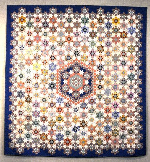 Hexagon Quilt by Bertha Stenge