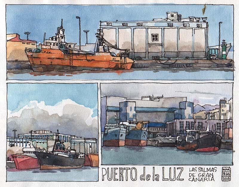 Puerto de la Luz, Las Palmas | por nina drawing