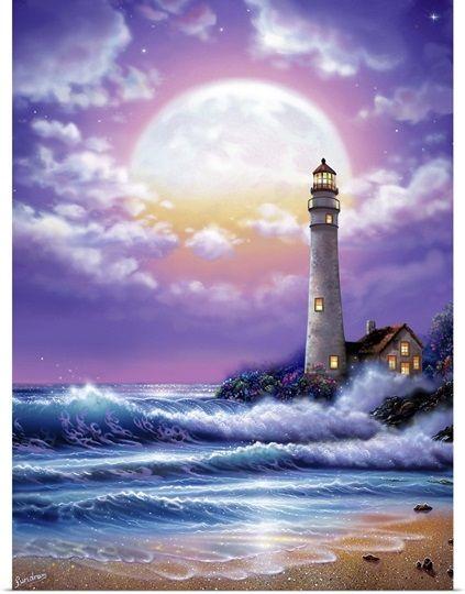 Lighthouse Of Dreams I Wall Art Canvas Prints Framed Prints Wall Peels Great Big Canvas Lighthouse Painting Lighthouse Pictures Lighthouse Art