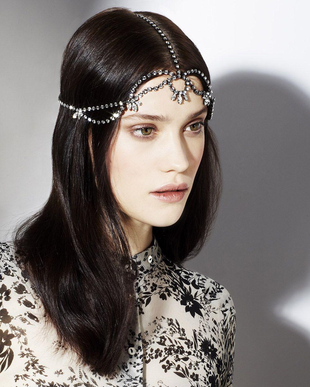 bec3e7d3d28d Jennifer Behr Delphinius Diadem    Swarovski crystal headpiece handmade in  New York City