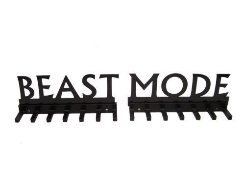 Beast Mode Marathon medal display rack holder race 26.2 10K  5K,13.1 b