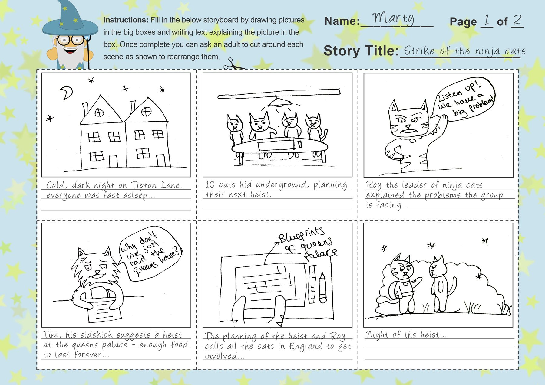 Using Storyboards To Write Stories Free Storyboard Template