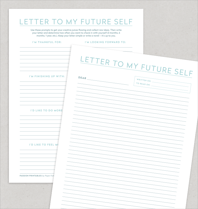 Letter To Younger Self Therapy Template