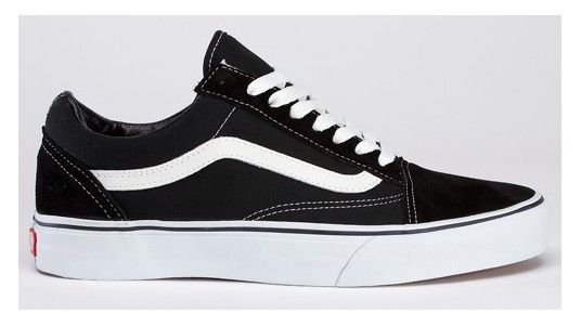 Vans Shoes Black/White Genuine Womens/Mens Old Skool Suede/Canvas Sneakers  - eurshirt Shop