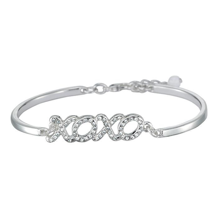 Express Yourself During The Season Of Romance With A Bracelet Featuring Little Loving Message Features Sparkling Rhinestones Measures 7 L