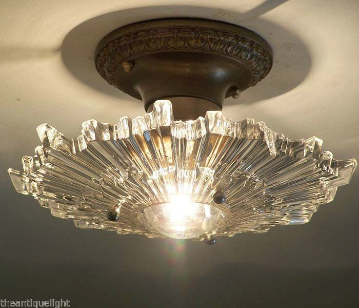 After Sunset 30 S Art Deco Ceiling Lamp Light Fixture By