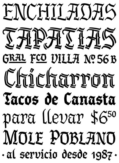 latin style font - photo #3