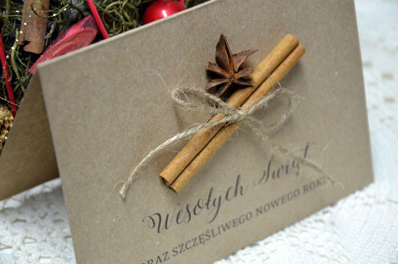 Kartki Swiateczne Dla Firm Eco Pachnace Cynamonem 7686958961 Oficjalne Archiwum Allegro Diy Christmas Cards Christmas Cards Chrismas Cards