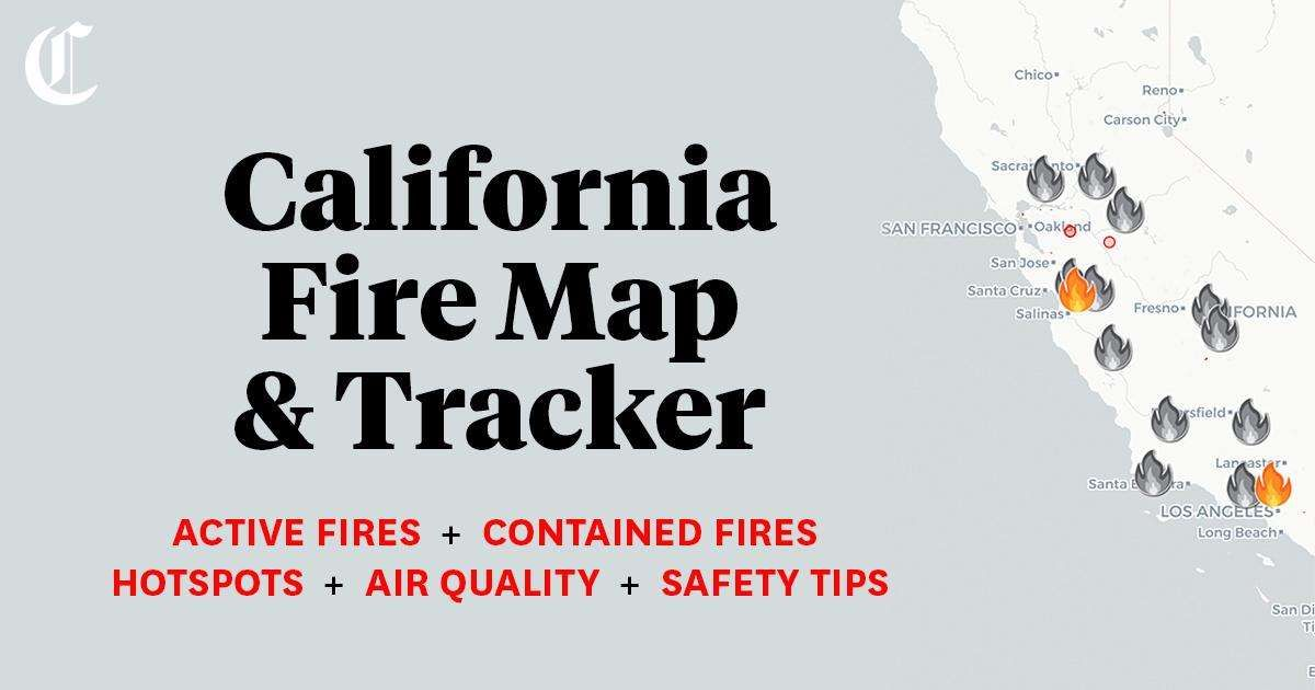 California Fire Map Tracking Wildfires Burning Across The State In 2020 San Joaquin California Reno City