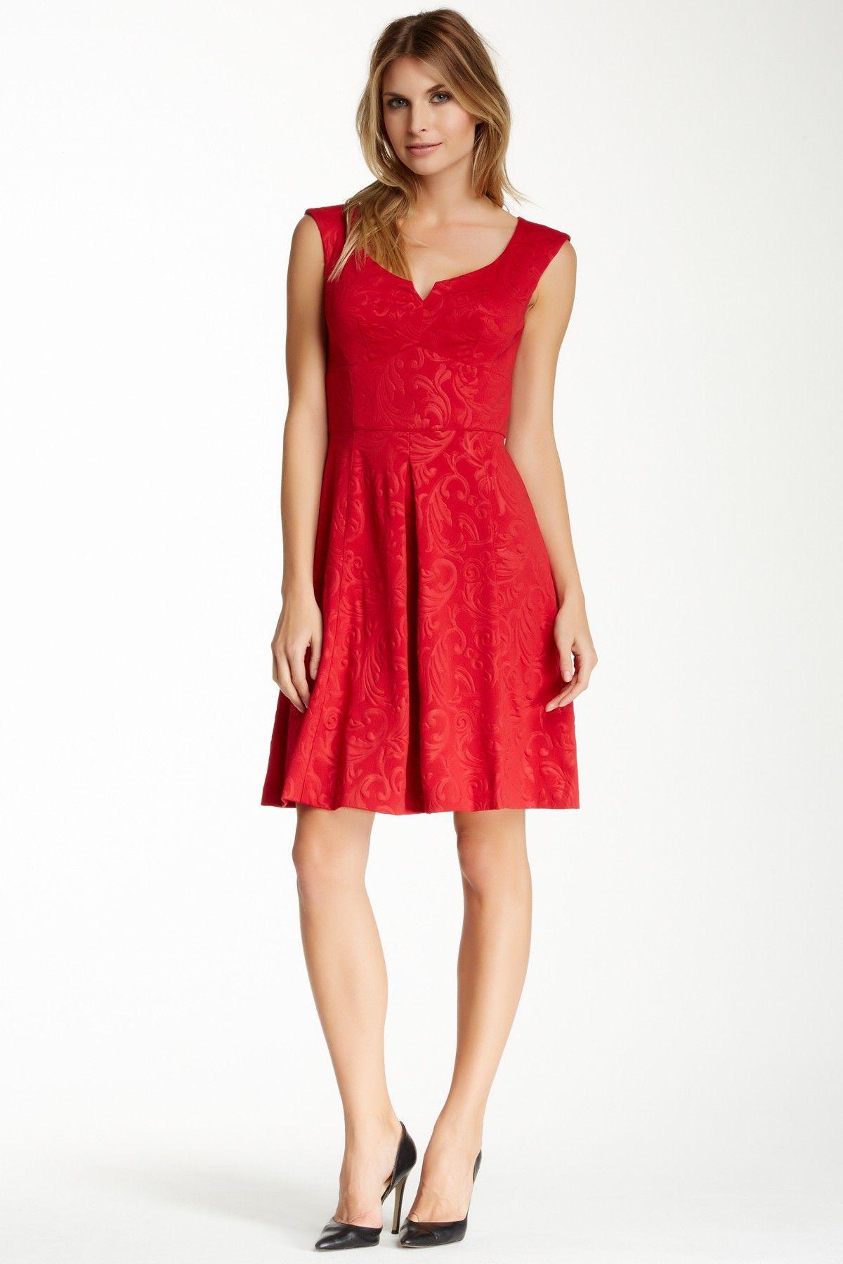 8000c5b664b1 Jacquard Scuba Fit   Flare Dress