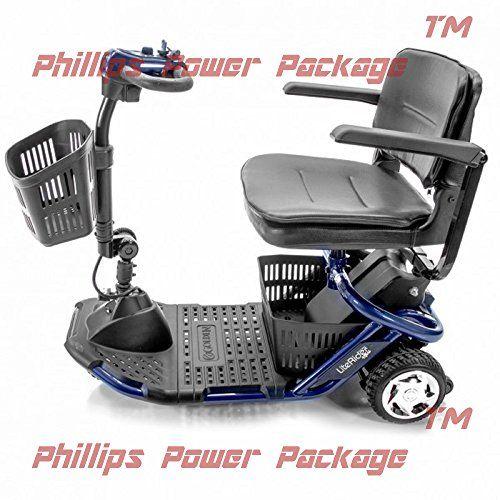 Golden Technologies Literider Mini Lightweight Travel Scooter 3wheel Blue Phillips Power Package Tm To 500 Va Lightweight Travel Scooter Mobility Scooter