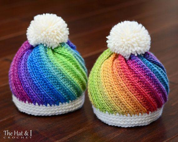 CROCHET PATTERN Twist Top Beanie crochet hat pattern | Ganchillo ...