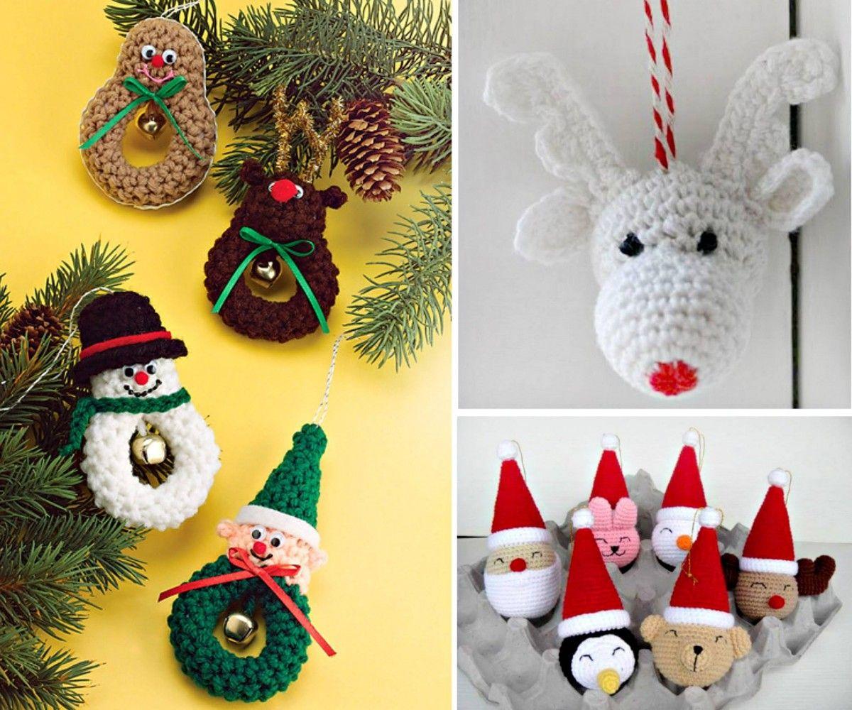 Crochet christmas ornaments patterns adornos de - Adornos navidenos ganchillo patrones ...