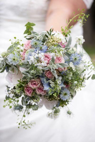 brautstrauss weddingbouquet vintage rosa blau grn