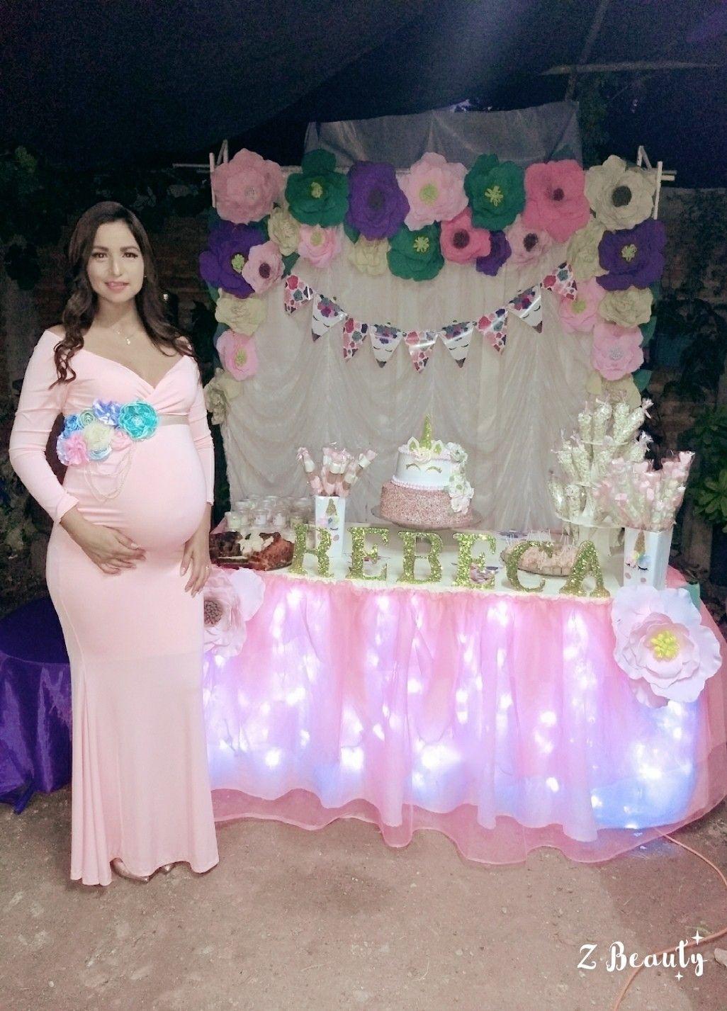 Vestidos Duchas De Bebé Princesa Baby Shower Unicornio Trajes Para Baby Shower