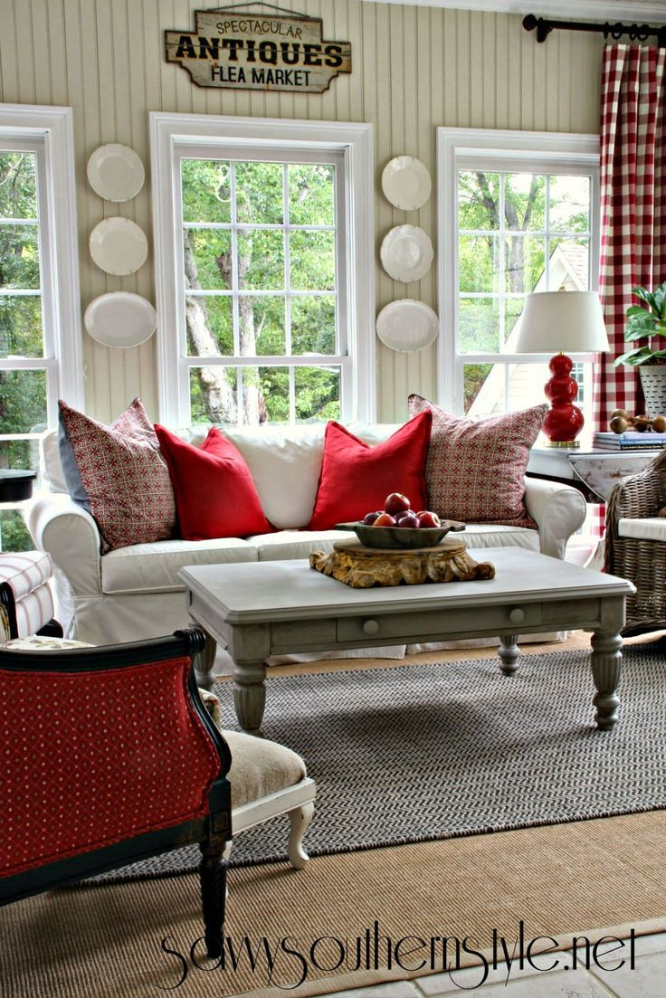 Best A Change Of Colors In The Sunroom Living Room Red Home 400 x 300
