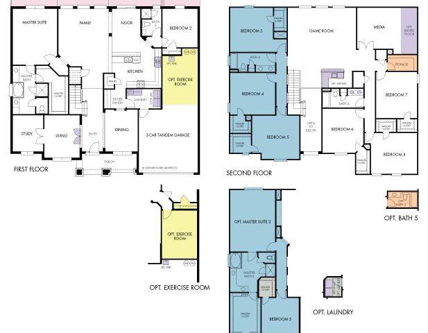 Del Rio Plan in Fells Landing, Orlando FL by Meritage Homes