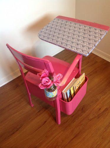 Pin Di Diy Furniture Projects, Pink Wooden School Desk