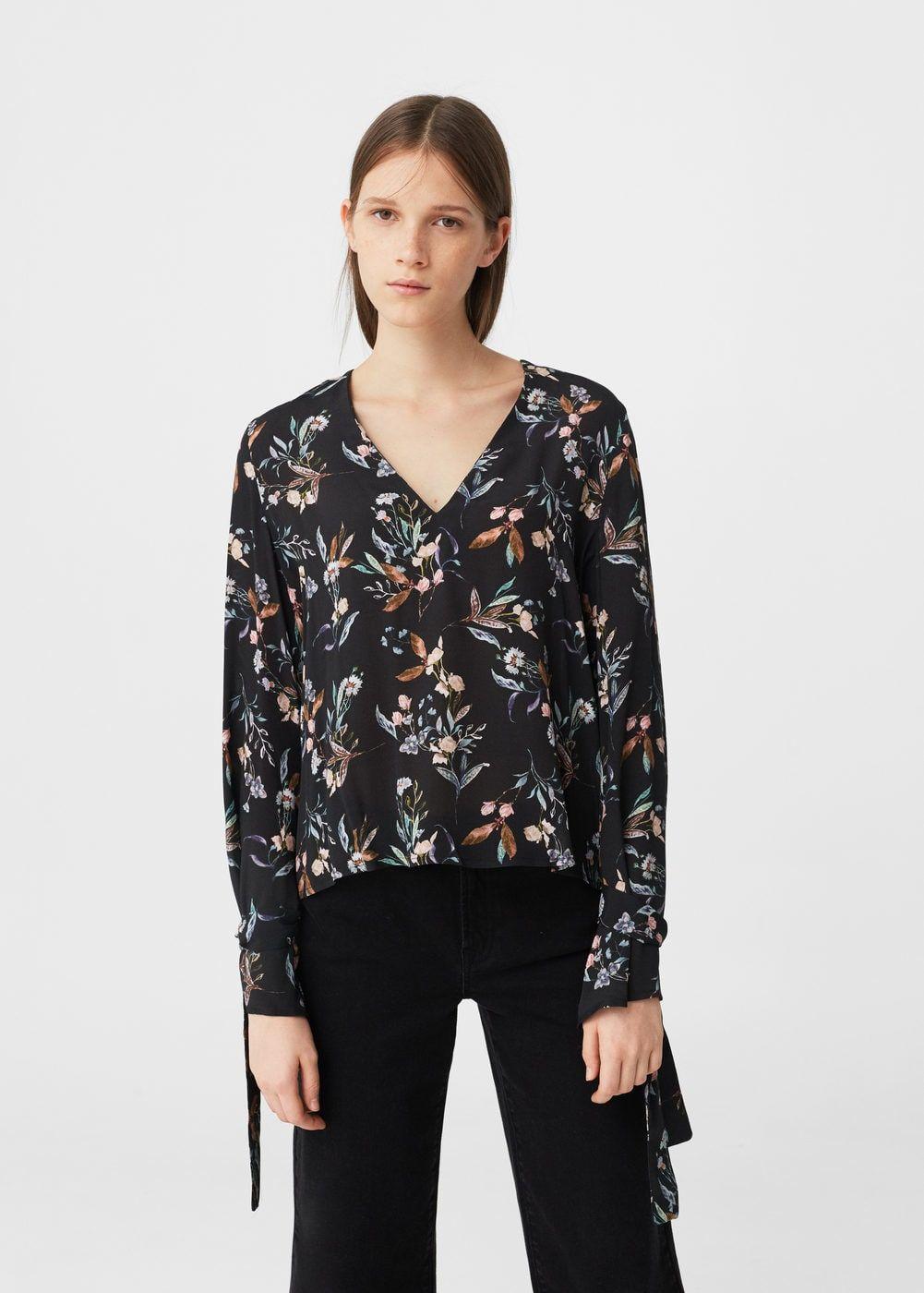 Flared sleeve blouse -  Women | MANGO USA