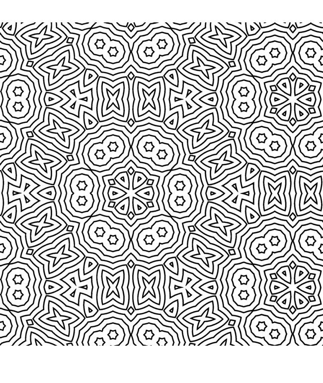 Free Coloring/Painting Pages: 2 Geometric Designs | Free coloring ...