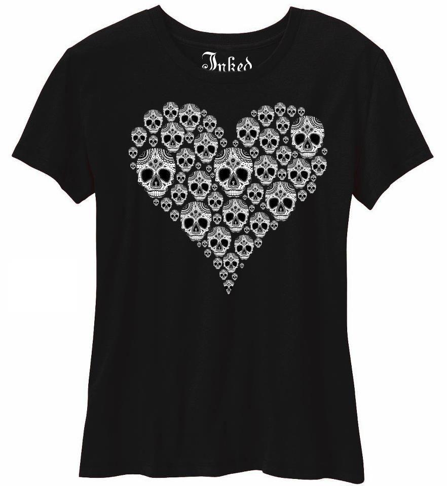 sugar skull t-shirt | Tattoos I Love! (and maybe want ...