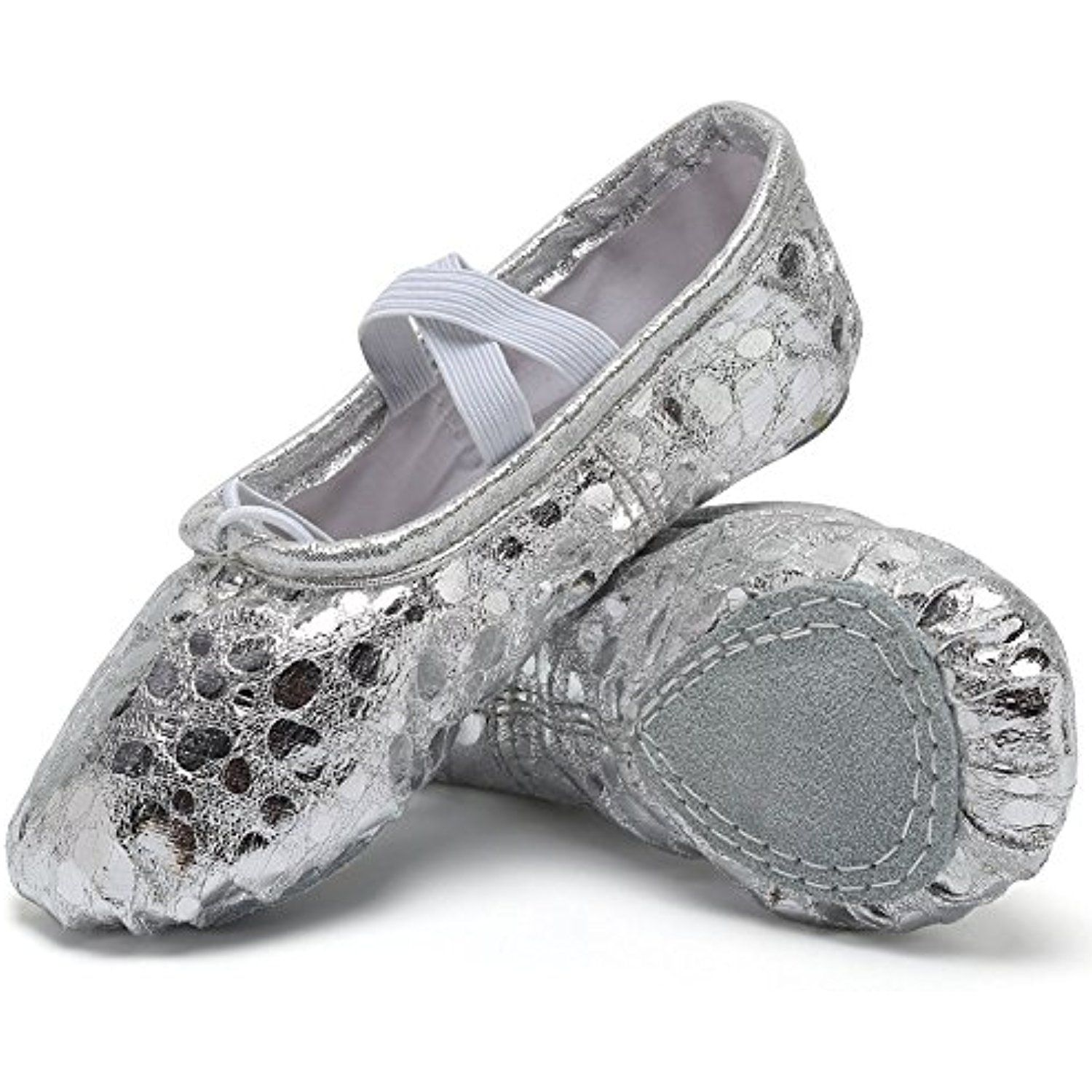 52f0f1ed0ef2d FANTINY PU Ballet Slippers for Girls Classic Split-Sole Dance ...