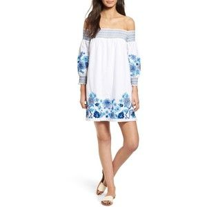 beb776ddf707 Women s Parker Jace Embroidered Off The Shoulder Shift Dress ...