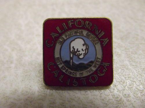 Vintage Souvenir Enamel California Calistoga Old Faithful Geyser Souvenir Pin   eBay
