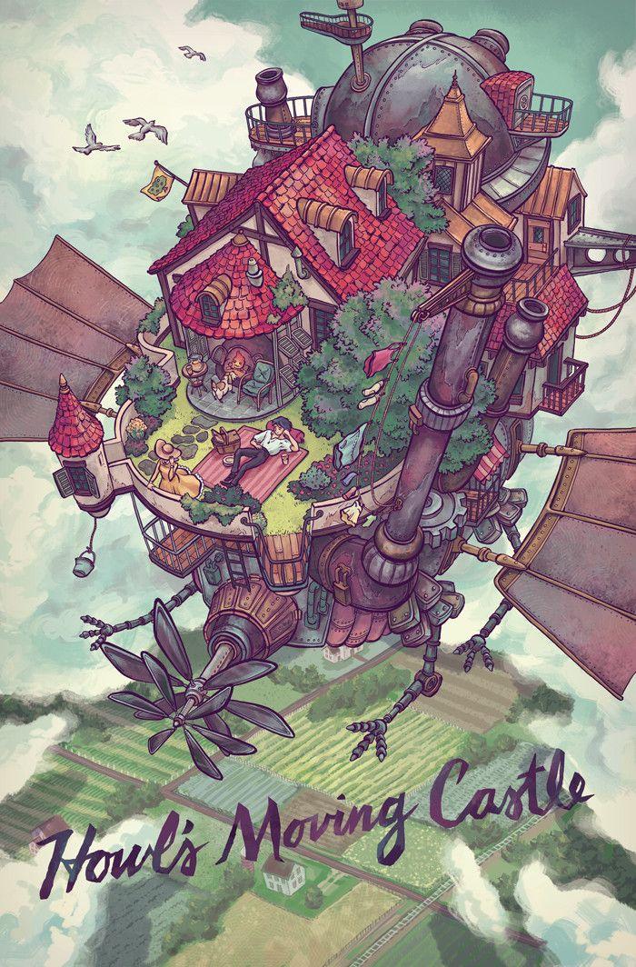 Pin By Charis Tsevis On Illustration Howls Moving Castle Studio Ghibli Art Studio Ghibli Movies