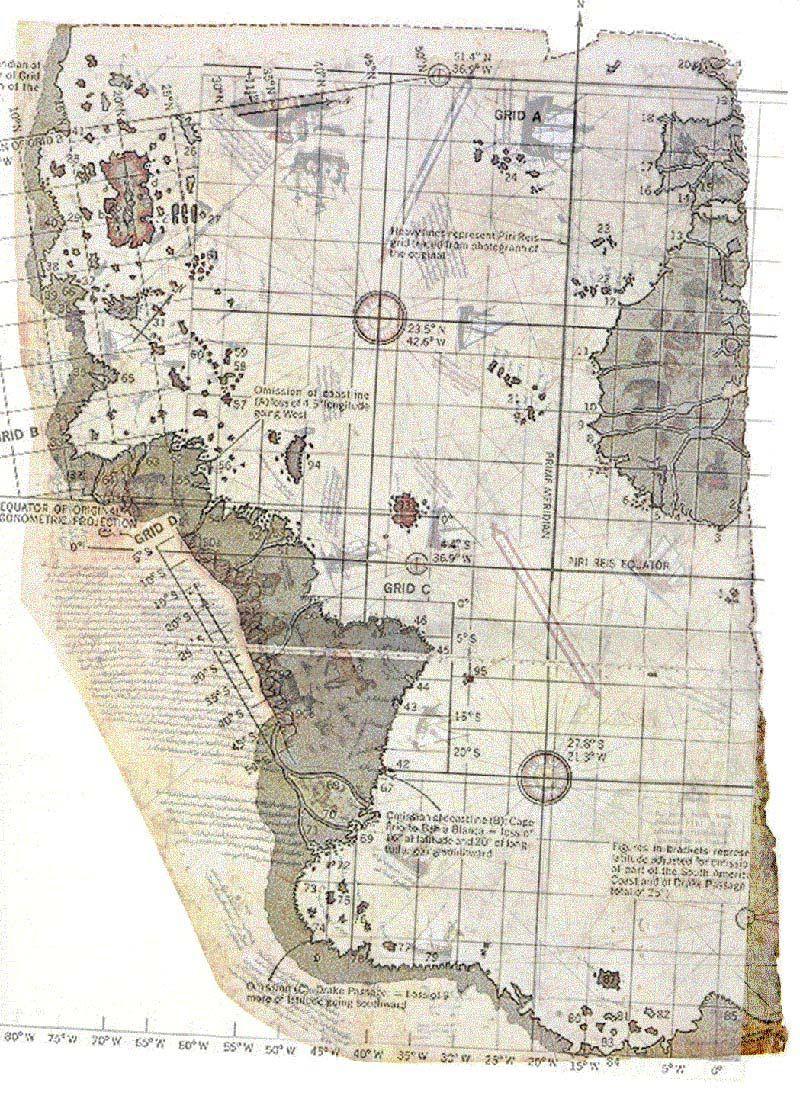 Piri Reis Map Theory Related Keywords & Suggestions - Piri Reis Map ...