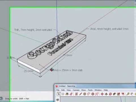 Adding Text 3d 2d And Labels And Moving In Sketchup Tutorial