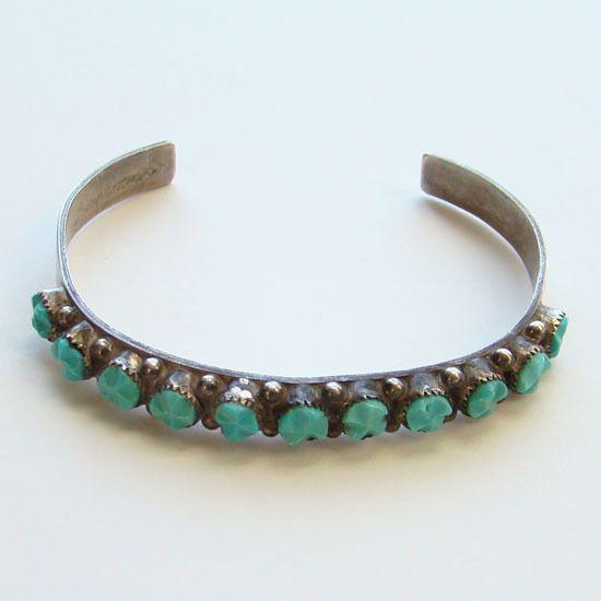 Turquoise Jewelry For Wife Turquoise Cuff Bracelet Zuni Jewelry Row Bracelet Native American Cuff Stacking Bracelet Zuni Silver Bracelet