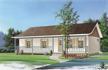 Plan 2146dr Ranch With Full Width Front Porch Ranch Style House Plans Ranch Style Homes Bungalow Style House Plans