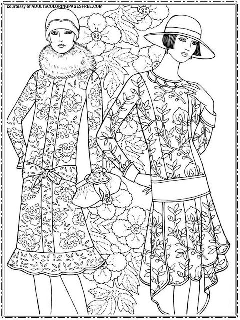 Downloads new fashion model adults coloring pages for free ...