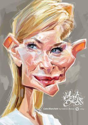 Cate Blanchett por Valentin Chibrit