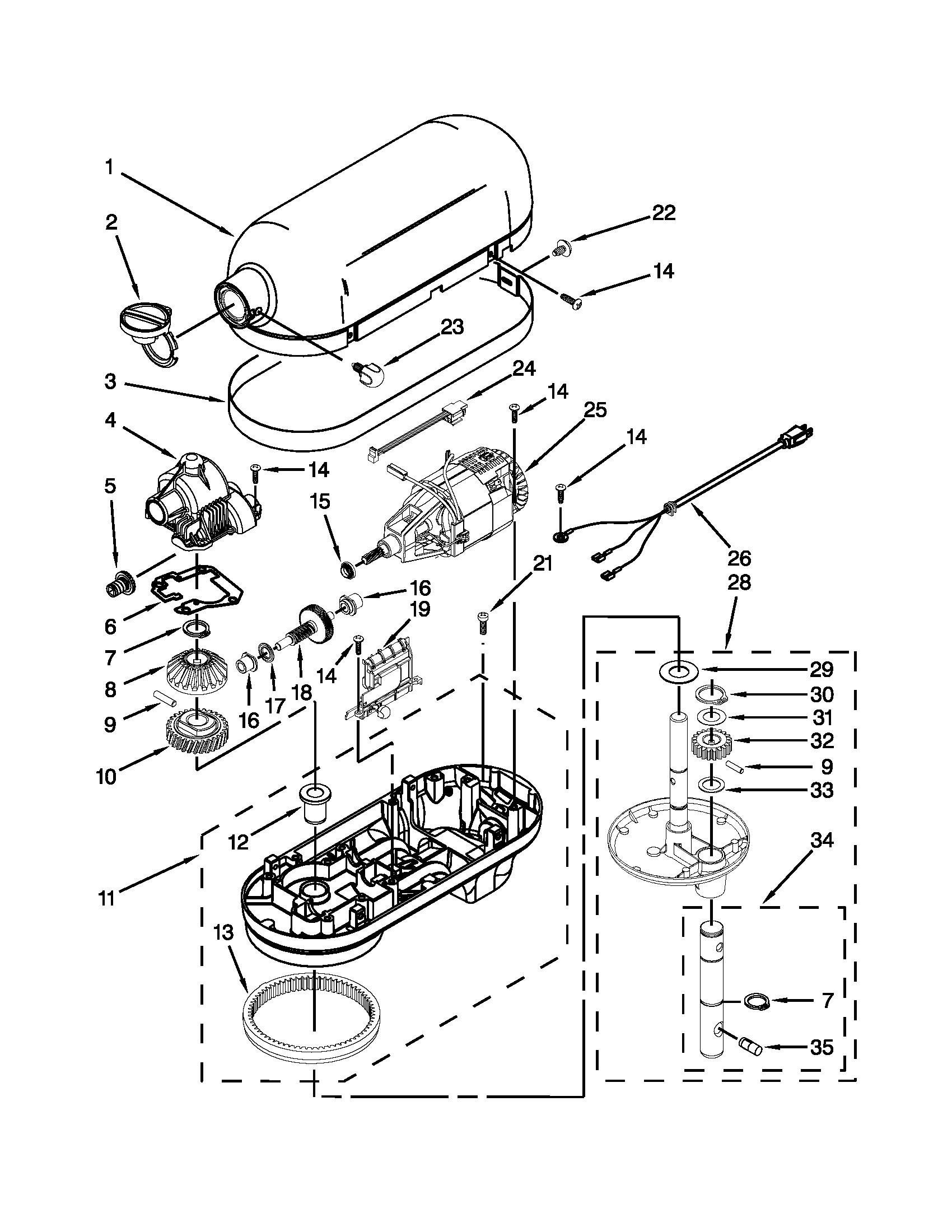 Kitchenaid Blender Parts Kitchenaid Mixer Parts  Model Kp26M1Xob5  Sears Partsdirect