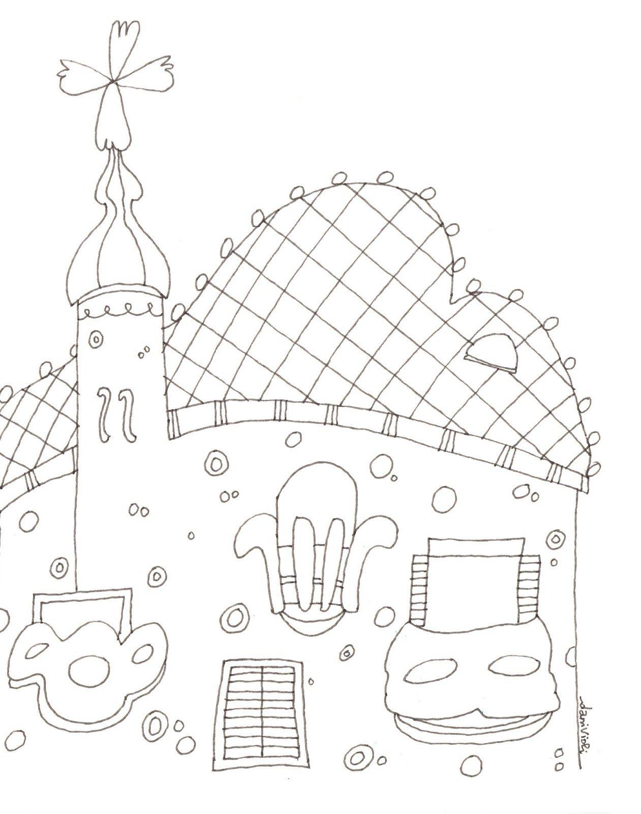 Colorear+Casa+Battlo%CC%81.jpg (1261×1600) | COLE: Proyecto GAUDÍ ...