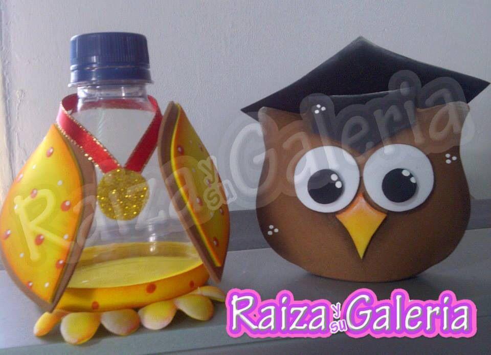 Buho Graduado Recycle Plastic Bottles Ideas Para Fiestas Crochet Owls