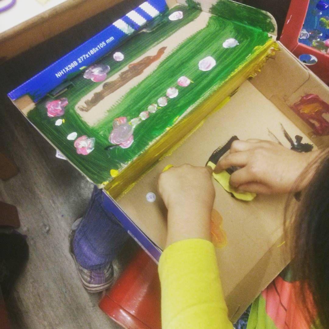 painting #passthecrayon #ptc #berlin #shoebox #crafts #kids ...